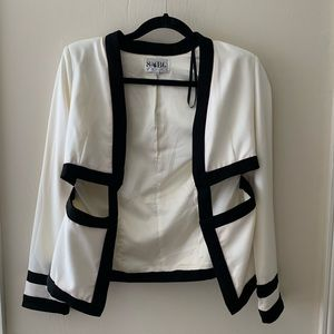 Sabo Skirt Ivory Blazer with Cutouts